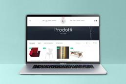 Ecommerce lista prodotti design