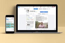 Pagina Facebook con contenuti editoriali