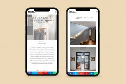 Sito web responsive progetti di interior design