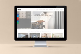 Sito web responsive materiali per l'interior design