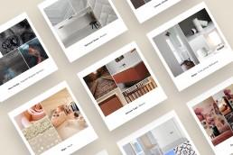 Moodboard materiali per l'interior design