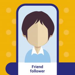 Friend follower - consumatore online
