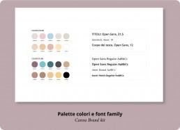 Palette colori e font family - Canva Brand Kit