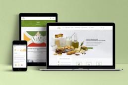 Sito web responsive prodotti per sensibilità al glutine