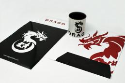 DRAGO international publishing house - merchandising realizzato da ARS